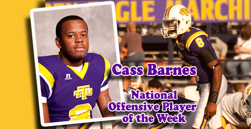 Barnes captures national Player of the Week honors