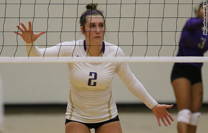 Women's Volleyball Faces Mercy for First Time in 12 Years, Falls in Road Match