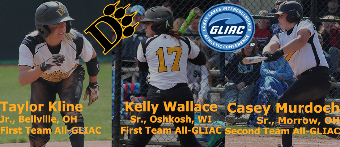 Kline, Wallace Garner First Team All-GLIAC Honors; Murdoch Named To Second Team For Softball