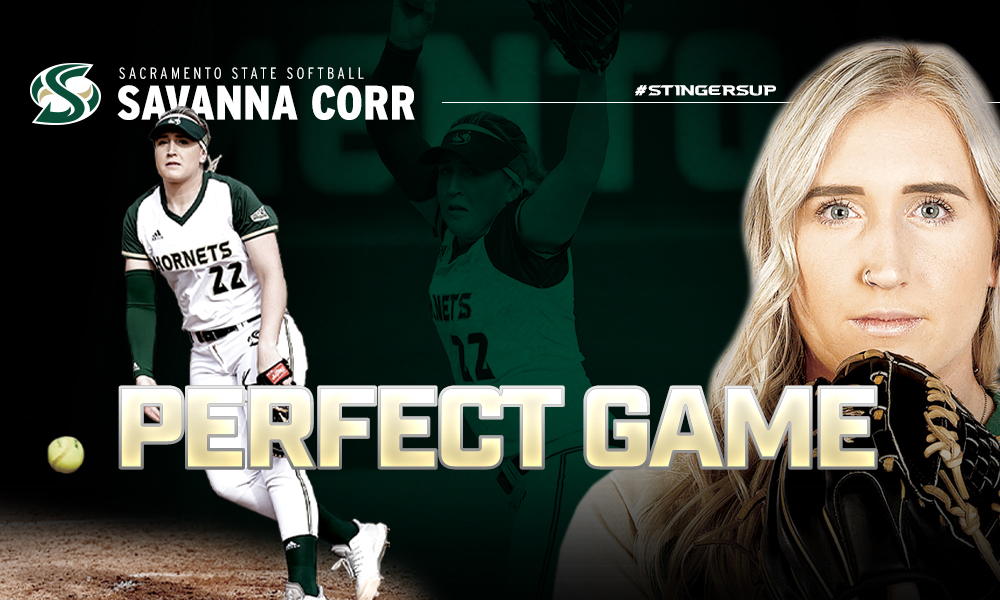 CORR THROWS A PERFECT GAME! SOFTBALL WINS TWO GAMES IN STOCKTON