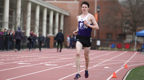 Freshman Shane McKeon won the 5000 meter run on Saturday at the Monarch Open with a new personal record time. © Photo by Timothy R. Dougherty / doubleeaglephotography.com