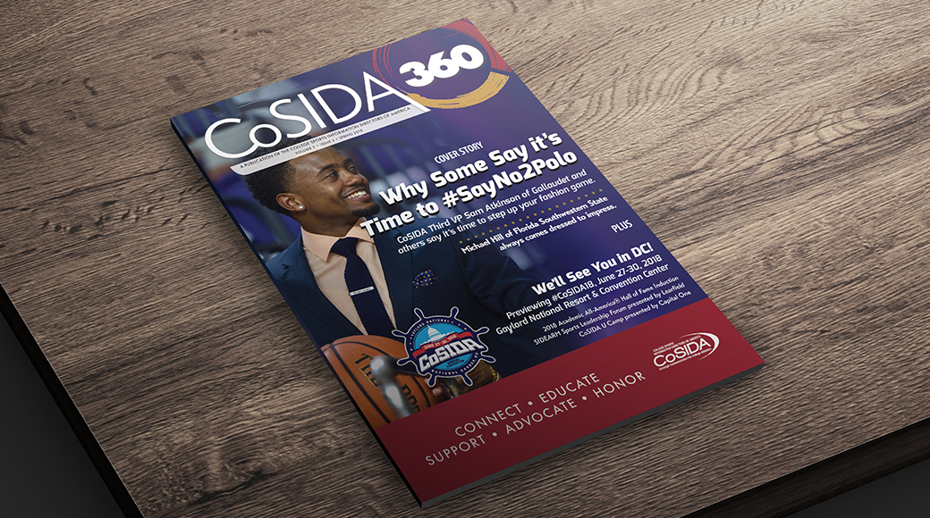 Asst AD Michael Hill Featured On Spring 2018 CoSIDA 360 Magazine Cover