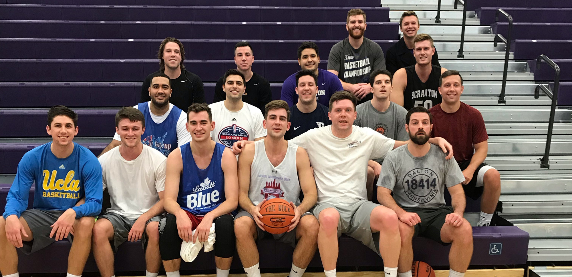 Scranton welcomed back 17 former players for Saturday's alumni game which was won by the Old Alums, 88-84.