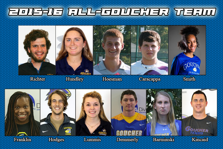 Athletic Department to Honor All-Goucher Team at Blue & Gold Weekend