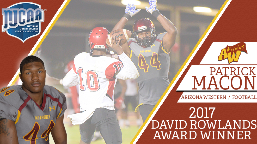 Macon named Rowlands Male Student-Athlete of the Year