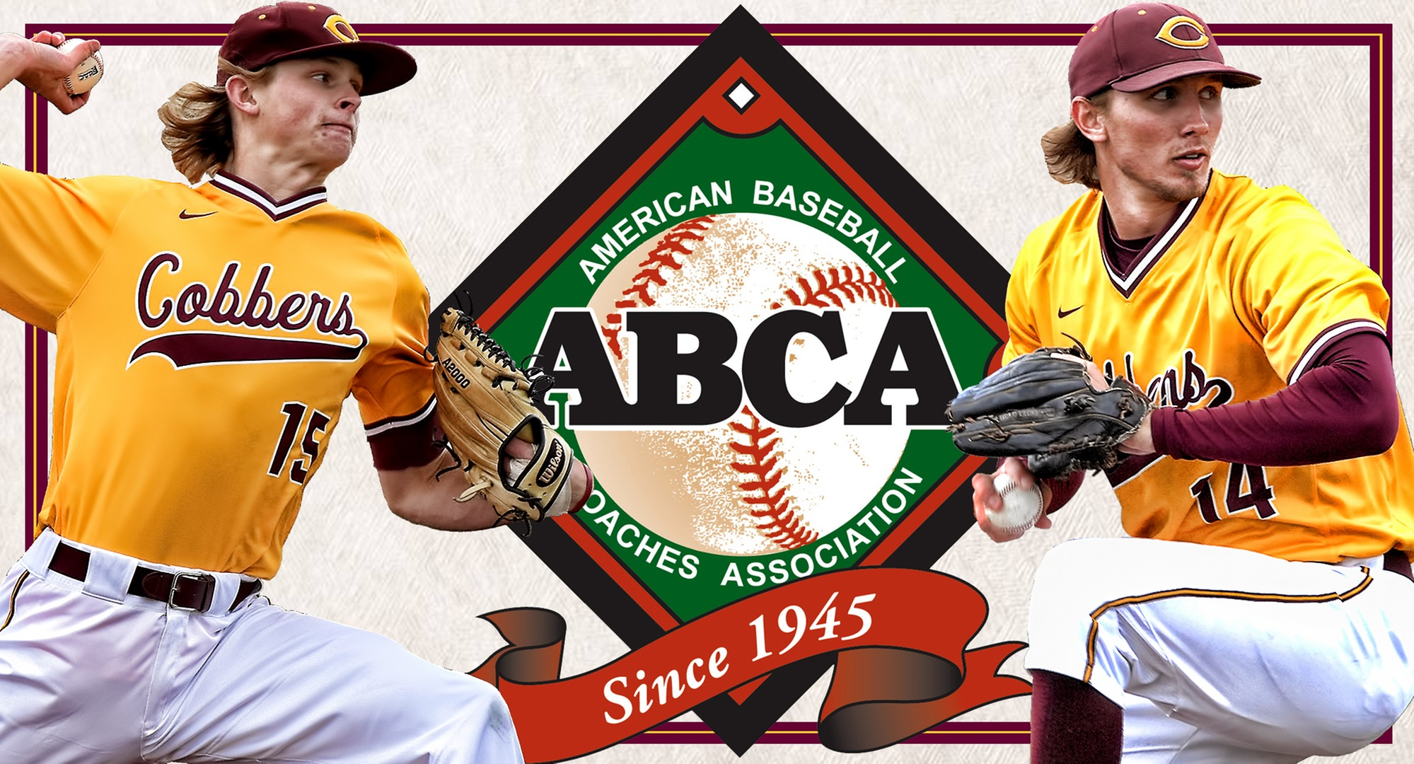 Ty Syverson (L) and Austin Ver Steeg both earned ABCA/Rawlings Midwest All-Region honors.