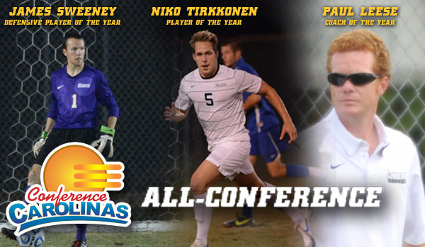 Coker College Men's Soccer Floods All-Conference List