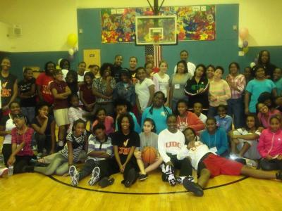 UDC Women's Basketball Participates in Community Event at Prince George's Plaza Community Center