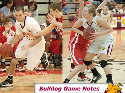 FSU's Matt DeHart (left) and Katy Fox (right) will try to help the Bulldogs win two road games this week (Photos by Ed Hyde)