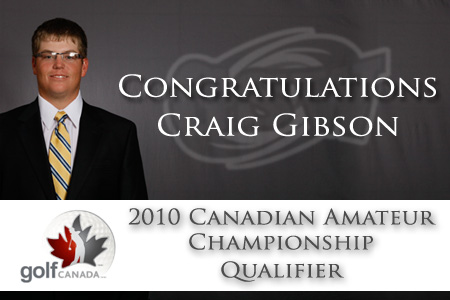 Gibson headed to Canadian Amateur
