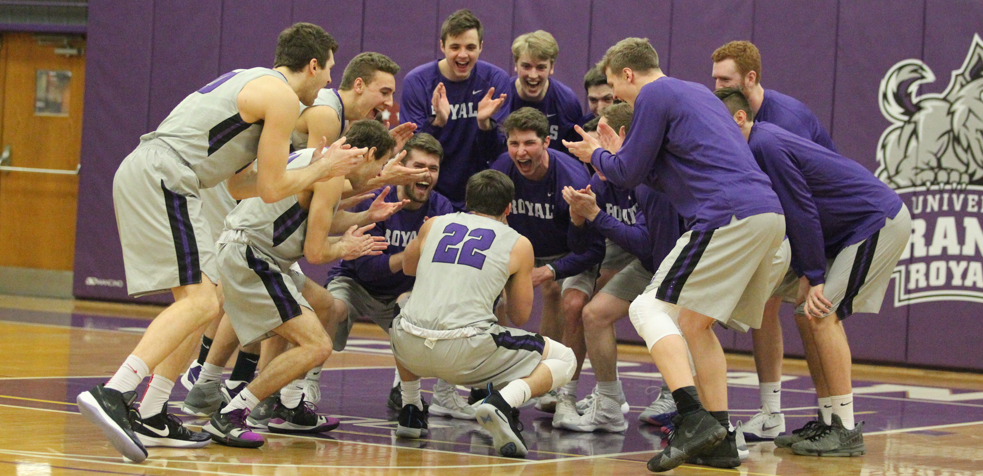 Scranton celebrated the program's 1,500th all-time win on Saturday with a 64-59 win at Juniata. © Photo by Timothy R. Dougherty / doubleeaglephotography.com
