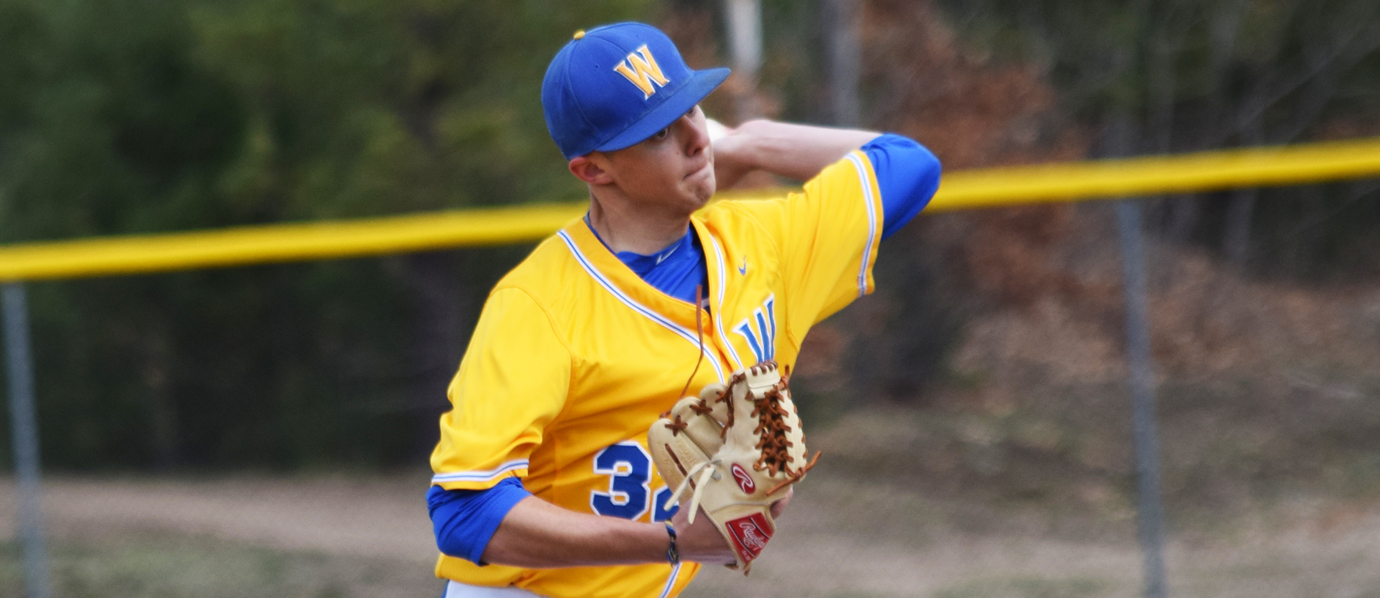 Junior lefty Bob Hamel allowed one run during a complete game victory in the opener as the Golden Bears split a CCC doubleheader with Endicott on Saturday.