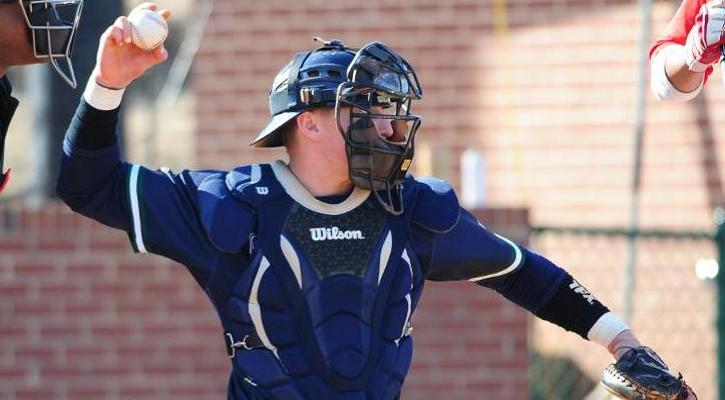 Senior catcher Steve Hazel powered the offense with a three-run home run in game one.