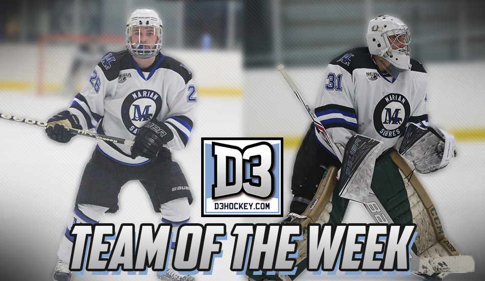 D3Hockey.com Team of the Week graphic.