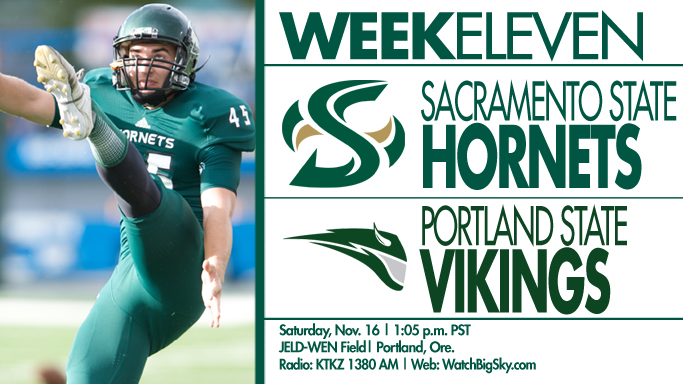 FOOTBALL PLAYS FINAL ROAD GAME AT PORTLAND STATE ON SATURDAY