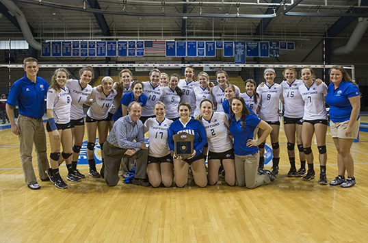 2015 VOLLEYBALL PRESEASON POLL & VIDEO: Christopher Newport Picked to Three-Peat by Conference Coaches