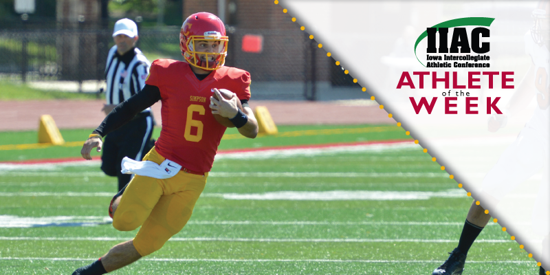 Nelson named IIAC Athlete of the Week