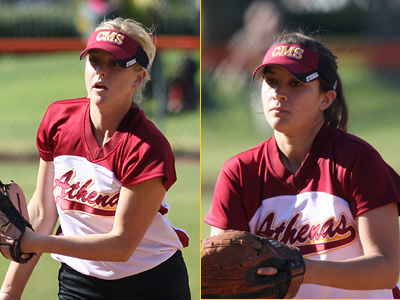 Weingart and Cruz Lead Athenas' Sweep Of Chapman