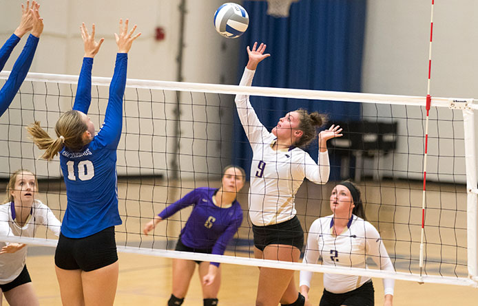 Saint Michael's Falls in Women's Volleyball to Visiting Stonehill