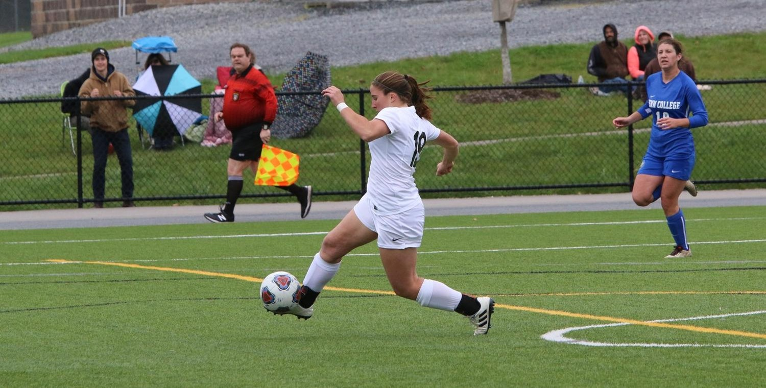 Grace Wolf (19) scored for Keuka College on Saturday -- Photo by Ed Webber