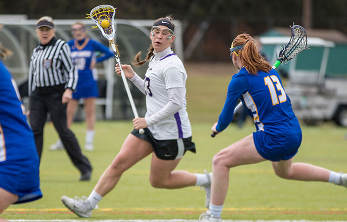 Women's Lacrosse Loses Wild 22-20 NE10 Affair to Southern New Hampshire