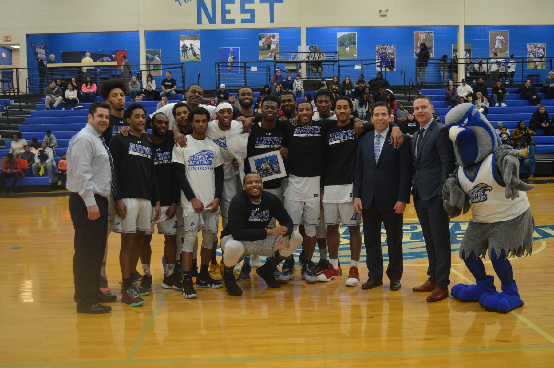 Balanced Attack Leads Men's Basketball Past SUNY Canton on Senior Night