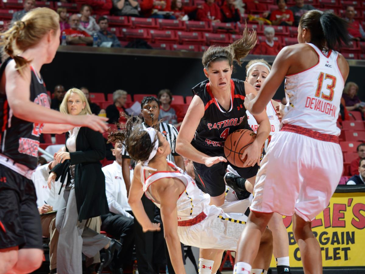 Maryland Downs CUA 110-34 In Exhibition Hardwood Matchup