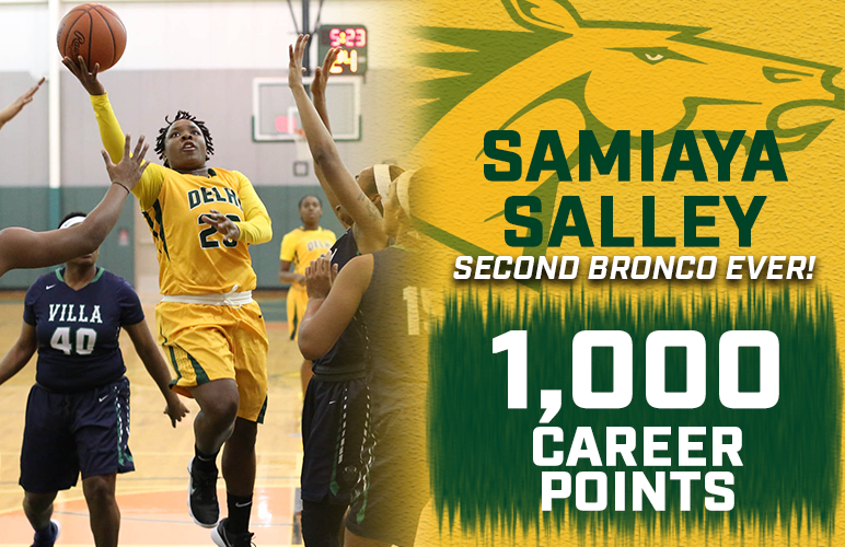 Salley Reaches 1,000 Career Points at Villa Maria