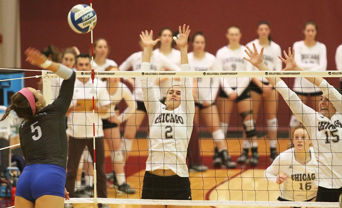 UChicago Volleyball Concludes Historic Season; Falls to Aurora in NCAA Regional Semifinals