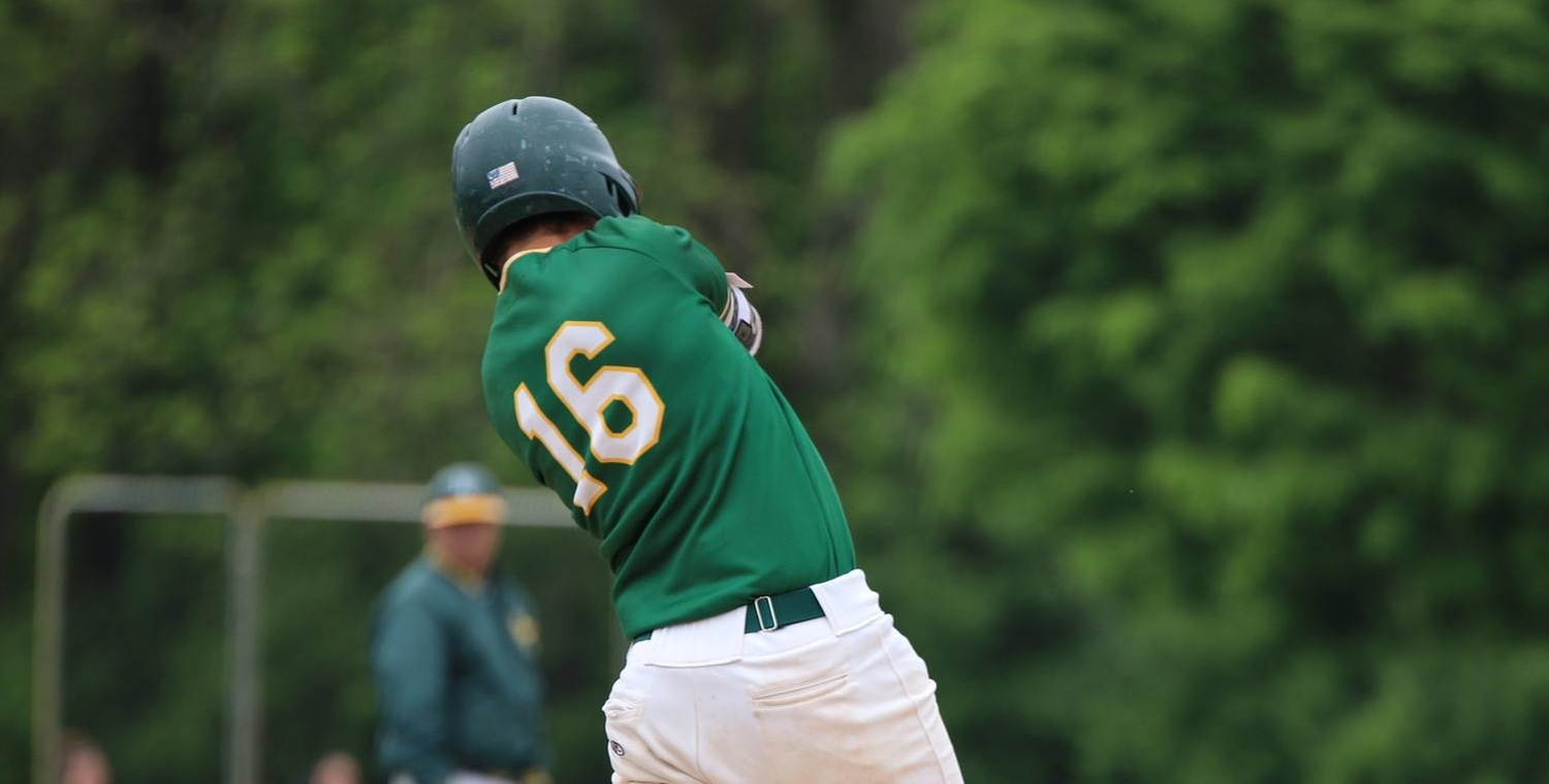 Tyler Krowiak (16) had four hits on the day for Keuka College
