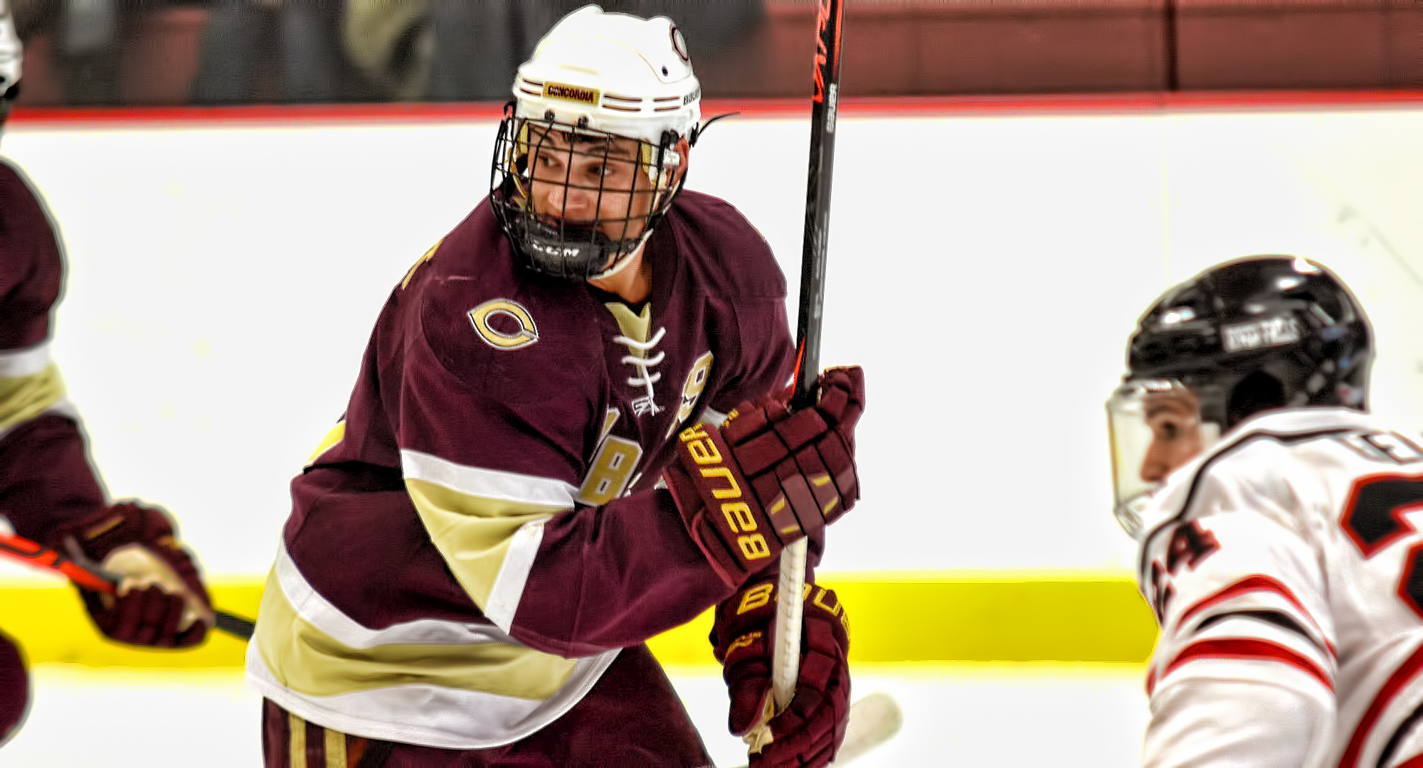 Junior Tyler Bossert scored a shorthanded goal in the second period in the Cobbers' series finale at Wis.-River Falls.