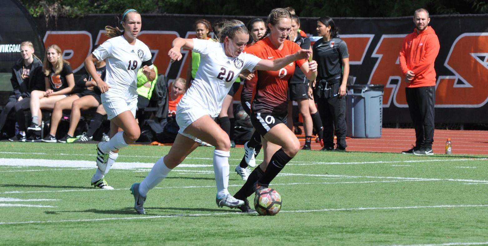 Deflection goal keeps Pios out of win column