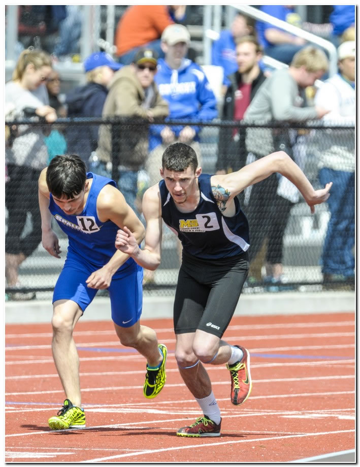 Mount men's track & field athletes in action at All-Ohio Championships