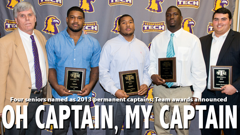 Captains announced, team awards presented at annual Football Dinner