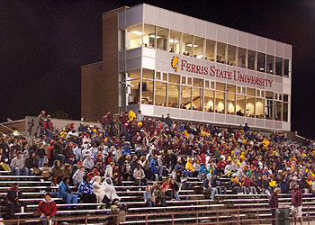 The crowd on hand braved rainy conditions for the game (Photo by Scott Whitney)