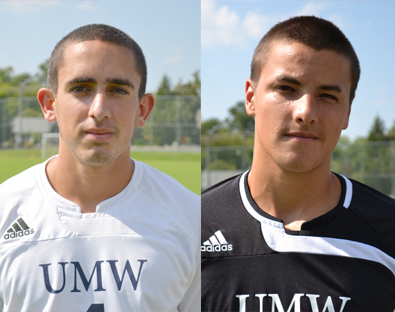 UMW's Poole, Back Named CAC Men's Soccer Players of the Week