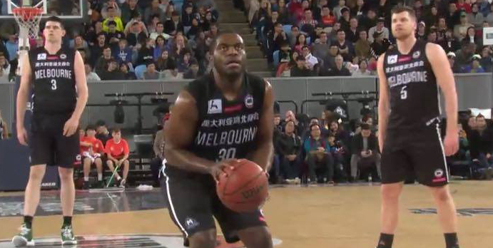 Bozeman suits up for Melbourne United in overtime victory over Team China