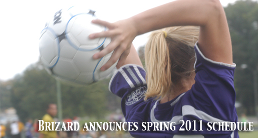Head soccer coach Daniel Brizard announces spring 2011 schedule