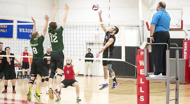 Men's Volleyball Claims Four Set Victory Over Wilson