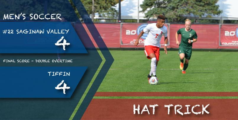 Freshman Roderic Green posted his first career hat trick in the match at Tiffin...