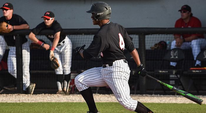 Yeison Gomez went 3-for-4 with three RBI as the Eagles came from behind to defeat Florida SouthWestern 7-5. (Photo by Tom Hagerty, Polk State.)
