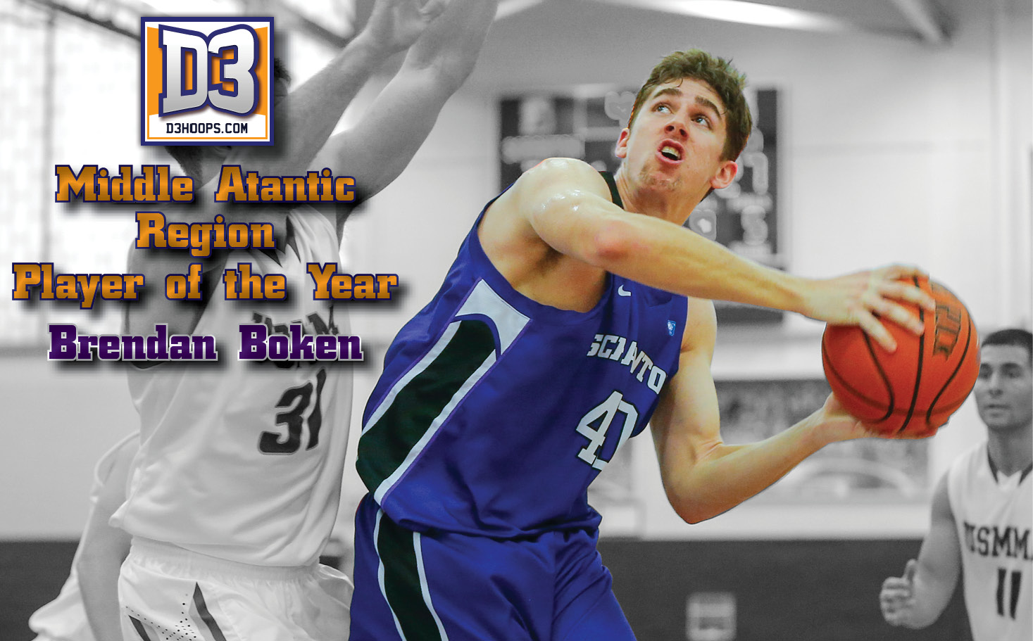 Boken Named D3hoops.com Middle Atlantic Region Player of the Year