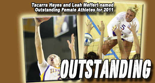 Hayes, Meffert share Outstanding Female Athlete honors