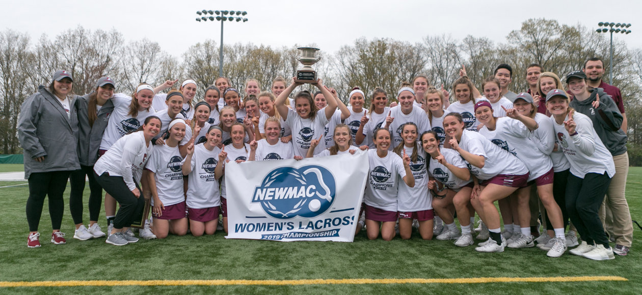 NEWMAC CHAMPIONS - Women's Lacrosse Claims 2019 NEWMAC Championship With 11-10 Victory Over Babson