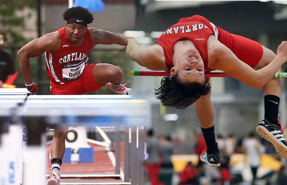 Cortland's Kashmer, Outing honored as Men's Indoor Track and Field Athletes of the Week