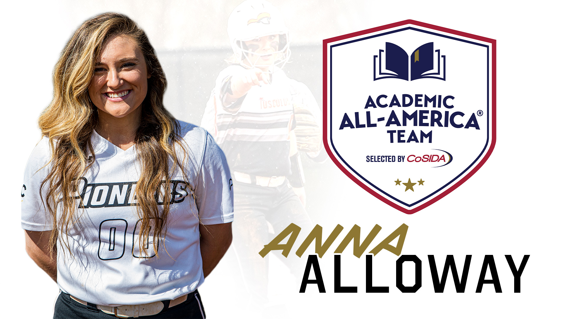 Alloway named to CoSIDA Academic All-America softball team