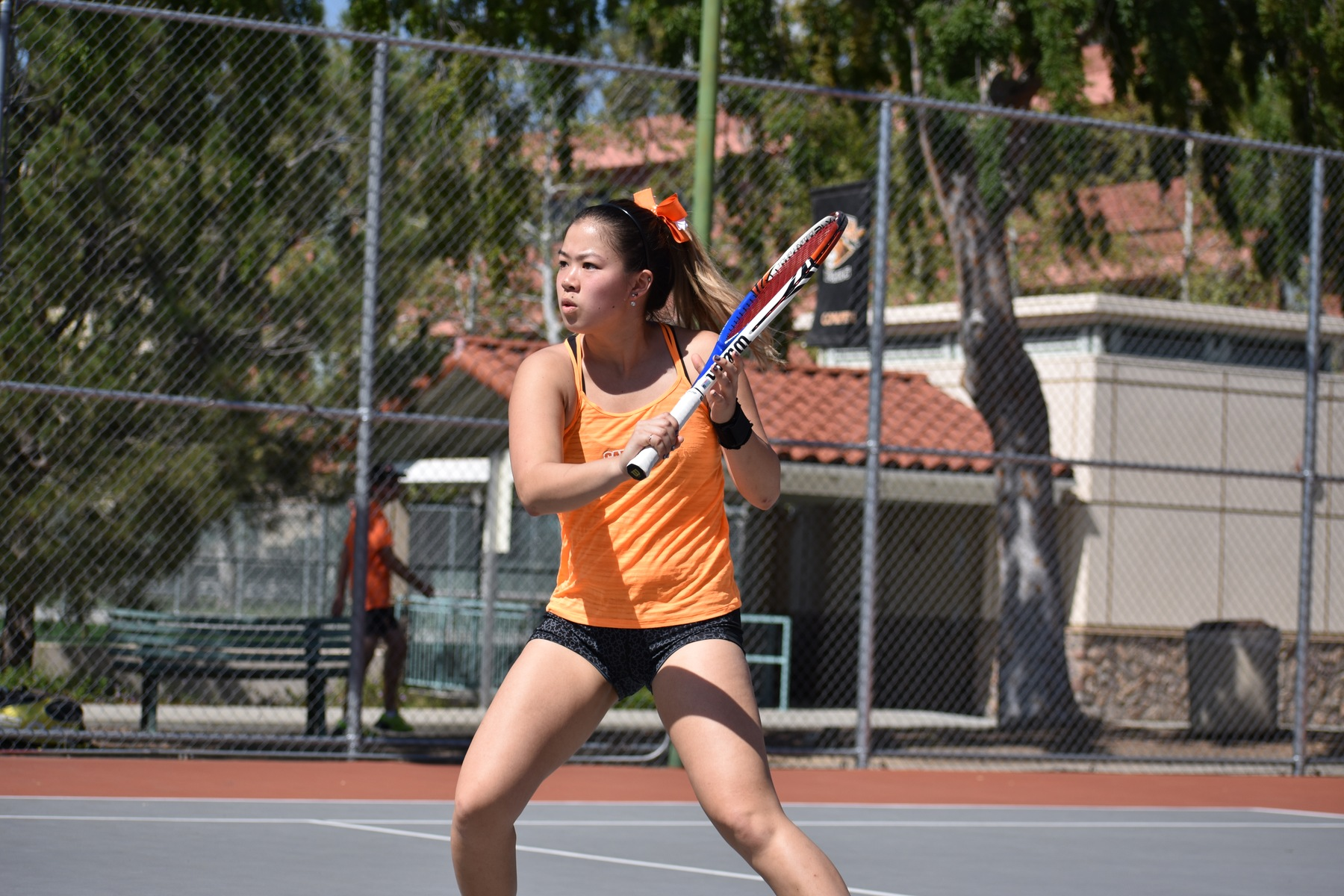 Cai Digs Deep for Singles Win Against Sagehens