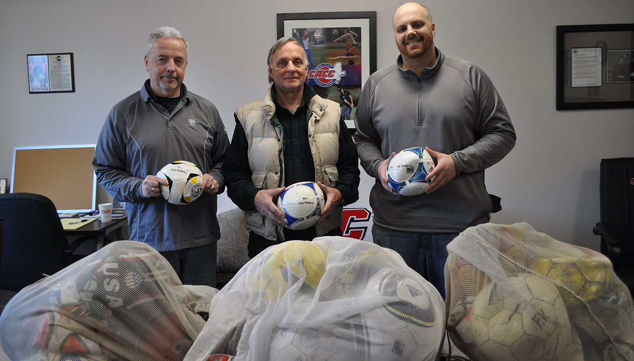 CACC, Member Schools & Fans Donate Nearly 250 Soccer Balls to Kick for Nick Organization