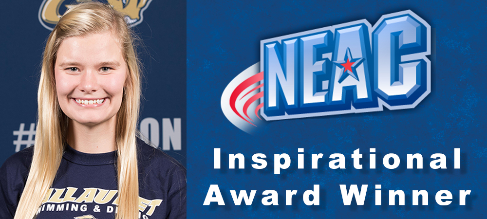 Gallaudet University women's swimmer Taylor Mickelson honored with 2015-16 NEAC Inspirational Award