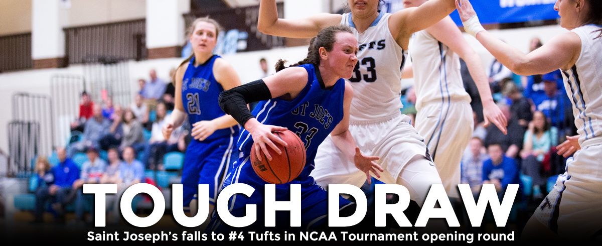 Saint Joseph's Falls to #4 Tufts in NCAA Opening Round, 65-44